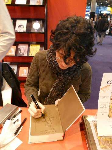 Linda Medley signant à Paris 2008
