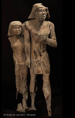 Couple en Bois, Louvre