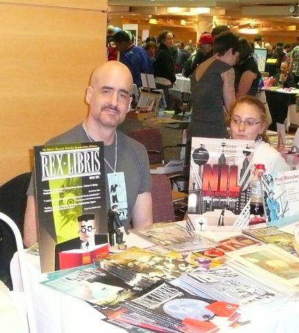 James Turner et son héros, Rex Libris, bibliothécaire de choc!