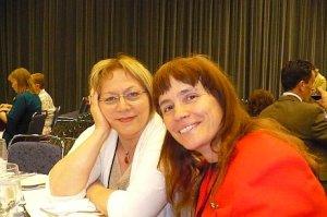 Élisabeth et Michèle au banquet des Auroras.