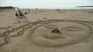 Visage de sable