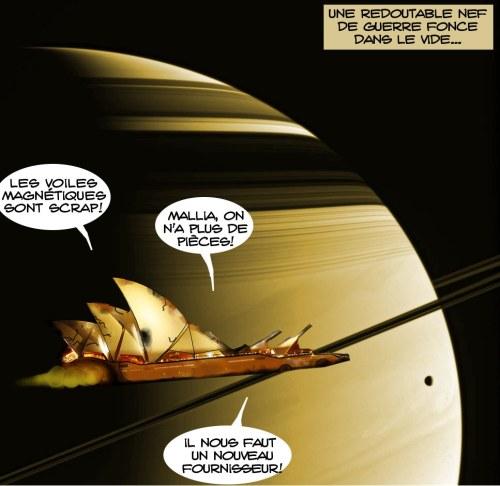 Le Douck fonce dans l'espace comme un fantome