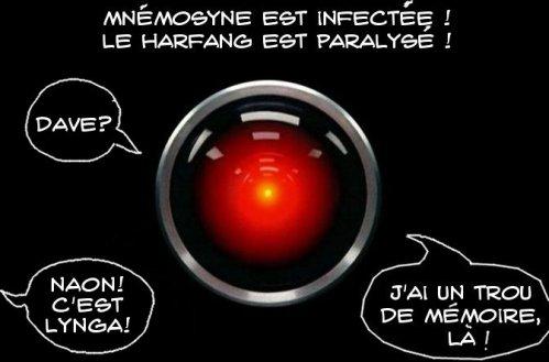 Mnemosyne Infectee a perdu la mémoire et se prend pour Hal 9000