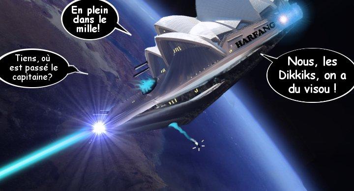 "Le Harfang largue 50 bombes ""Special Strange Matter Mix"" sur Canterna"