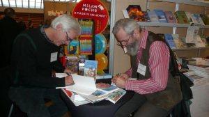 J-C Larocque et Denis Sauve, auteurs d'une bio d'Étienne Brûlé