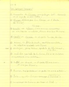 Liste d'épicerie des intrigues secondaires d'un roman (elle s'allonge pendant la rédaction...)