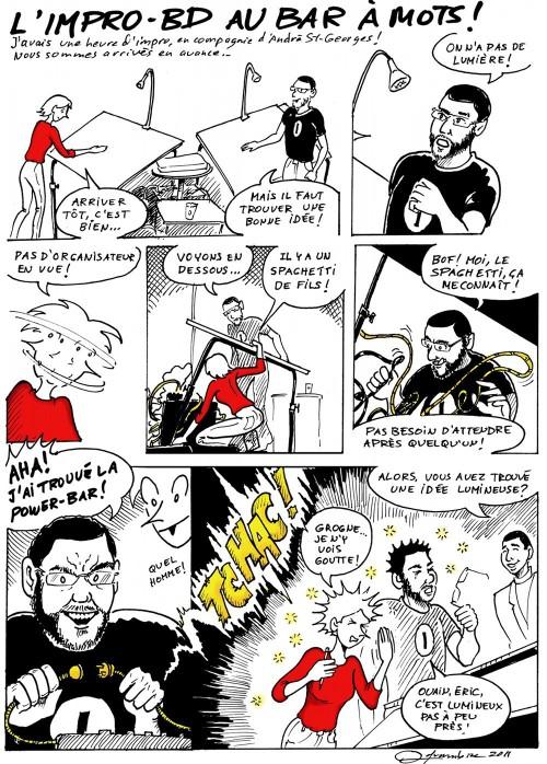 Impro BD du 26 février avec André St-Georges et la savante folle