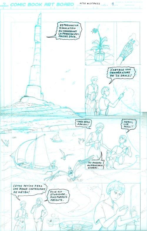 Brouillon de la page 9