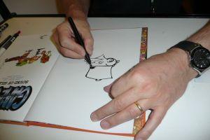 Midam signant l'album pour mon fils - détail