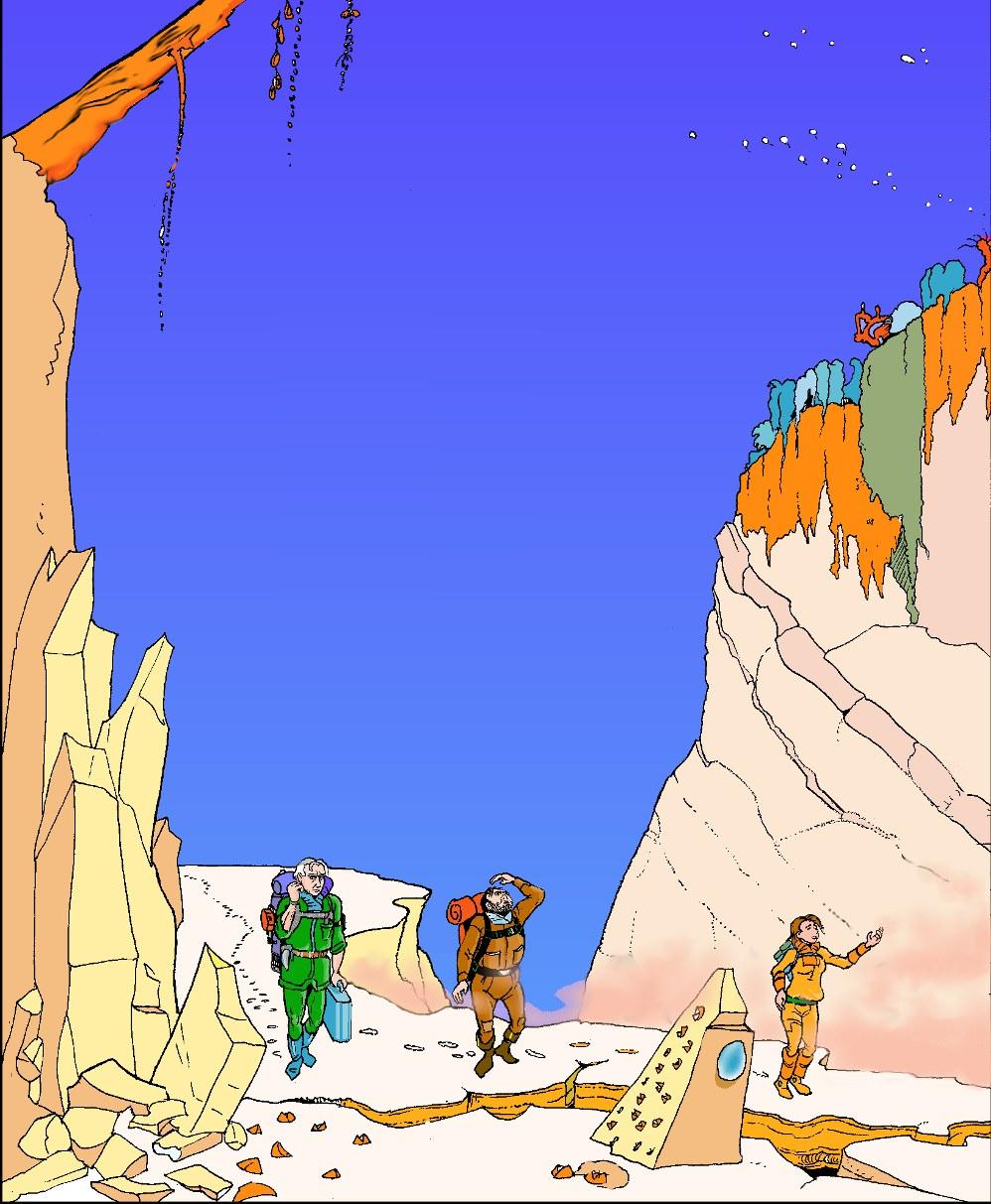 xploration - tirée des Voyages du Jules-Verne, où l'influence de Moebius se fait sentir.