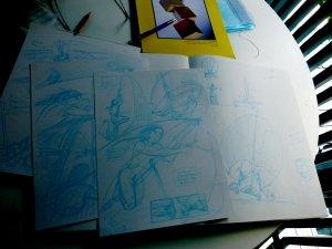 Pages de BD crayonnées