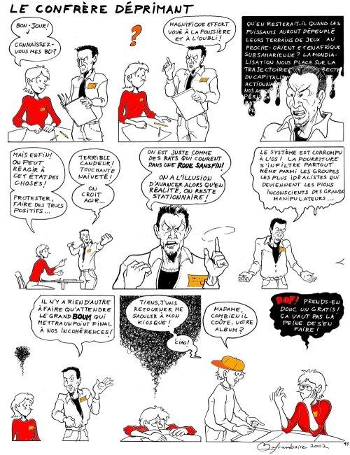 Histoire presque vraie inspirée par la rencontre d'un coloré collègue