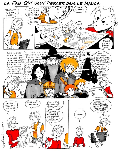 La fan qui veut percer dans le manga