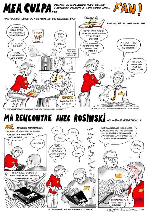 Ma rencontre de deux luminaires de la BD... Van Hamme et Rosinski