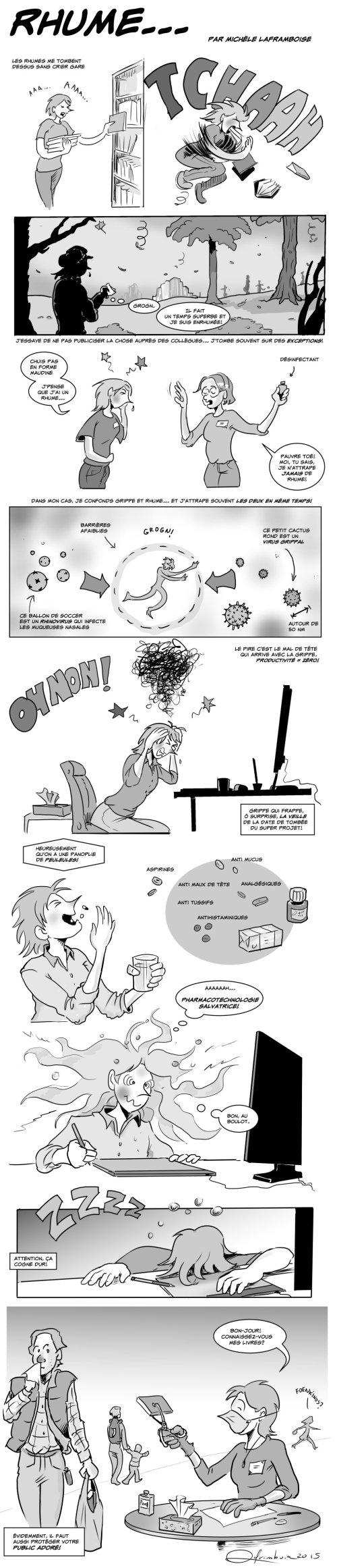 Tous les ennuis d'un rhume d'automne - par Michèle Laframboise