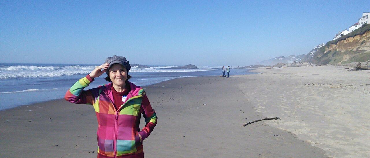 Michèle à la plage
