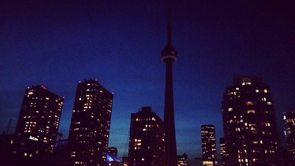 Photo prise hier soir par Mathieu Allard, ICI Ontario