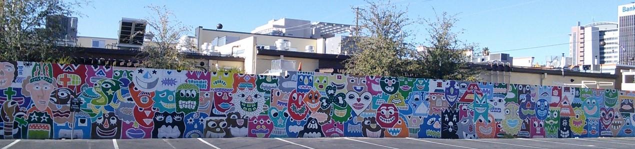 Une murale qui anime un triste stationnement!