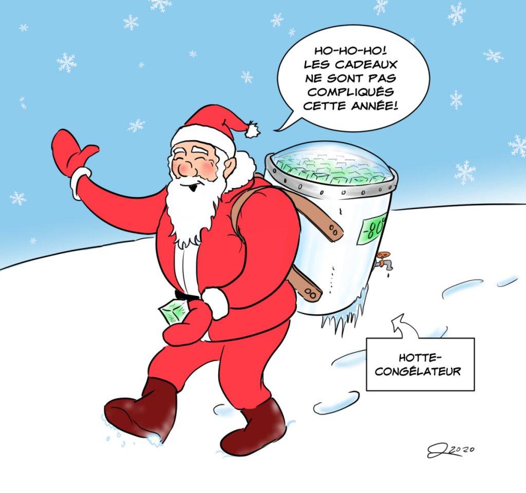Le Père Noël apporte des vaccins contre la covid-19